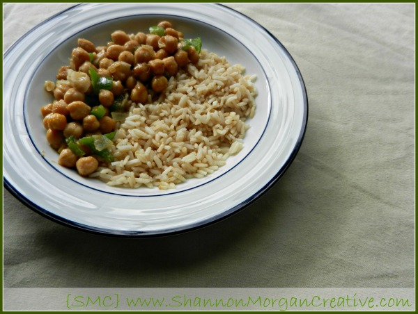 Easy Curry Chickpeas and Rice