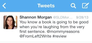 Shannon Morgan Tweets About Reasons Mommy Drinks Book